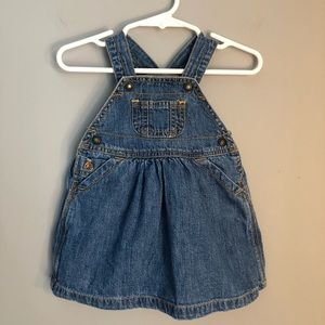 Baby Gap Infant Girls Denim Overall Dress 3-6 M